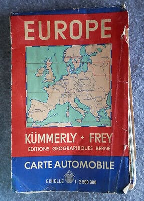 Europe Europa Kümmerly Frey Berne Suisse Road Map